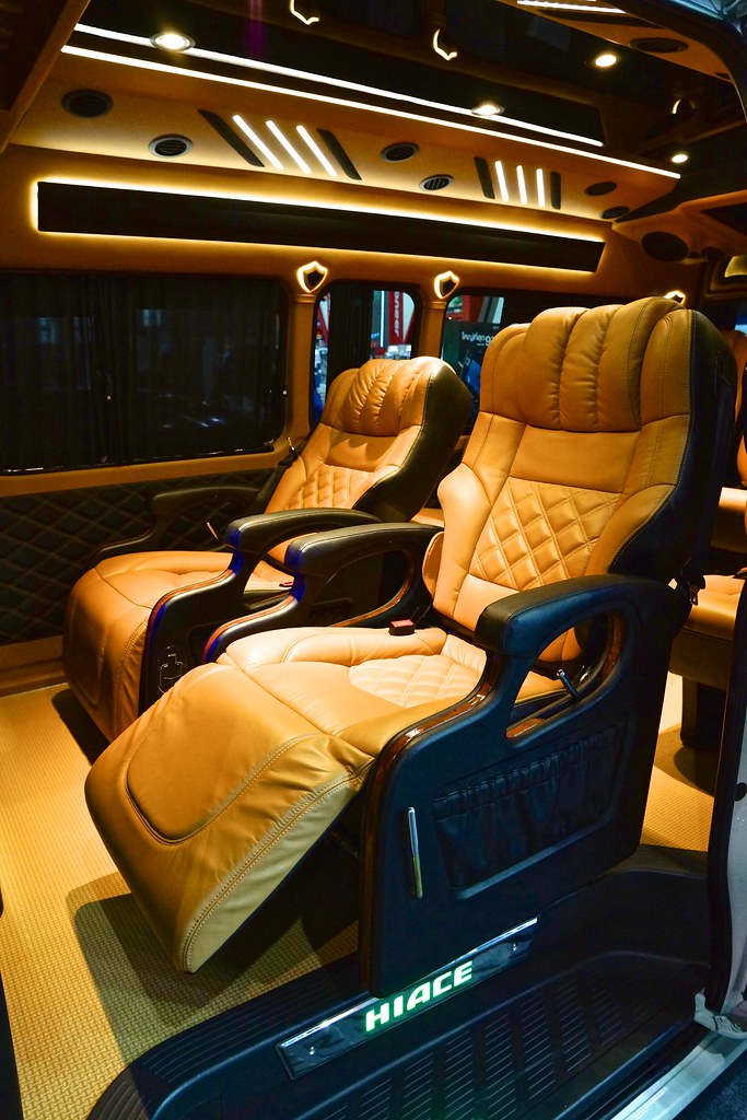 Toyota HIACE Interior With Aftermarket Modifications For C