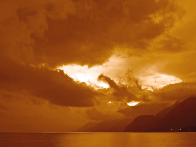A view of the lake Lake Atitlán, Sololá, Guatemala