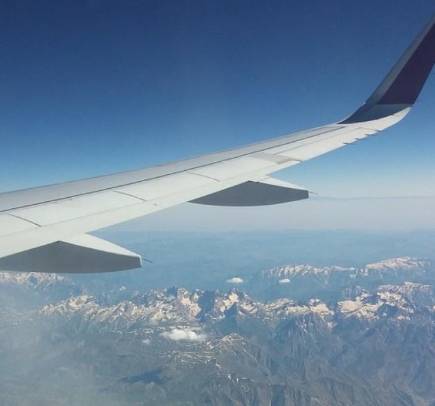 widok z okna samolotu gdzieś nad Azją Mniejszą