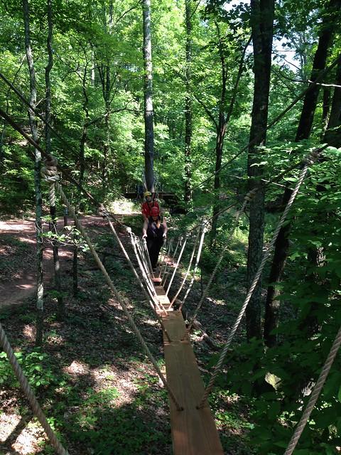 Ziplining at Red Mountain Park, Birmingham