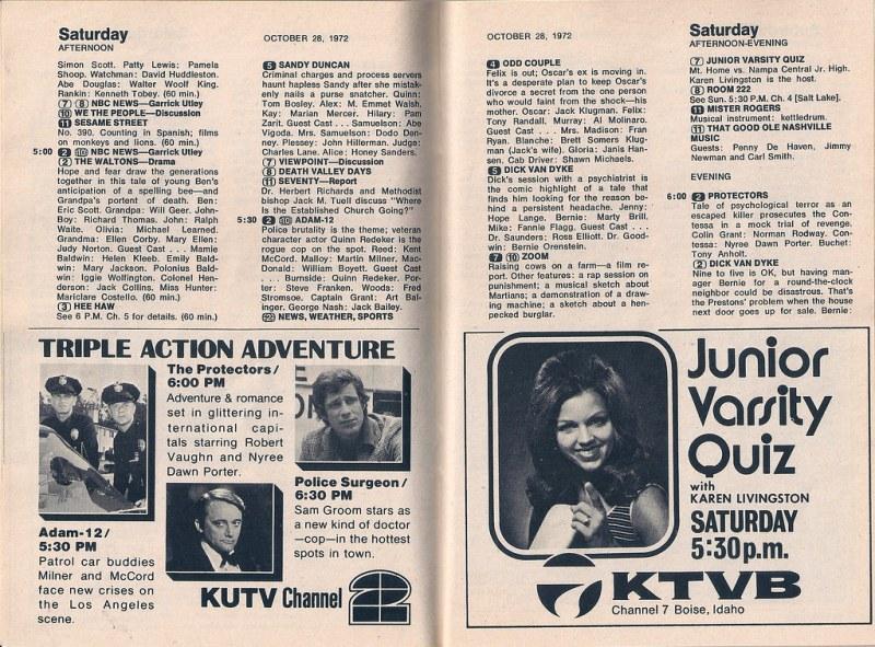 TV Guide (Oct. 28 - Nov. 3, 1972)