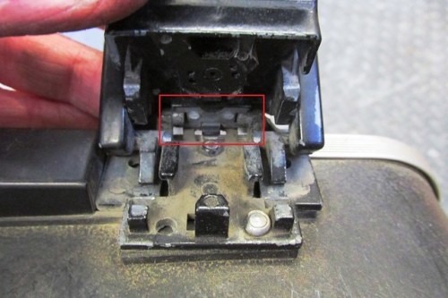 Lock Mechanism with Broken Top Plate on Latch Casting
