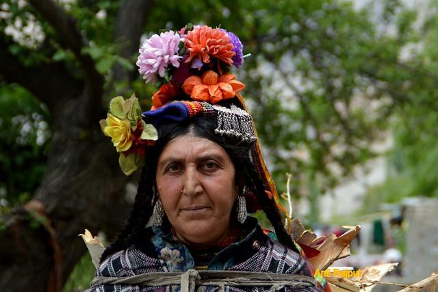 Red Aryan Lady from Darchik village, Batalik, Kargil