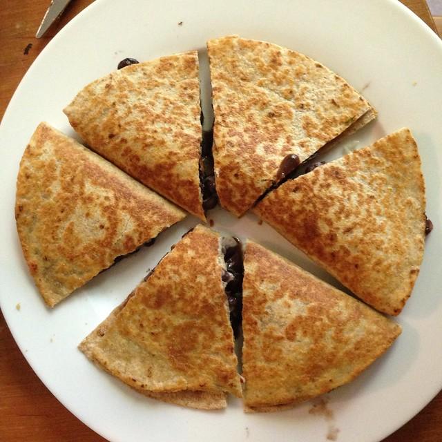perfect quesadilla triangles