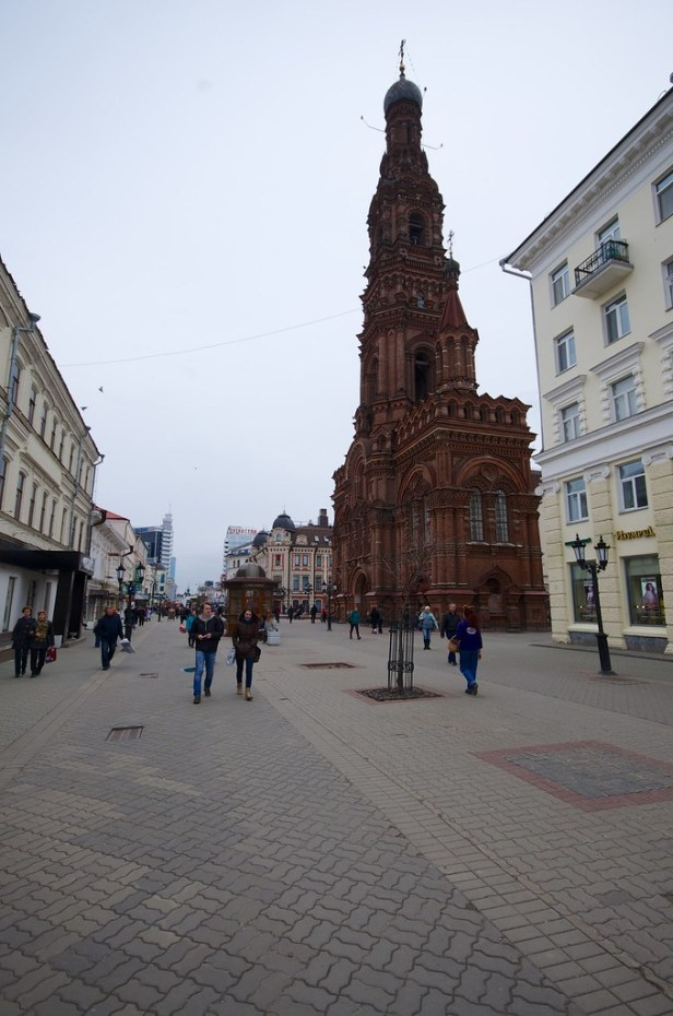 Колокольня Богоявленского собора, улица Баумана, Казань