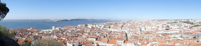 Panoramica di Lisbona