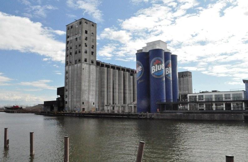 Labatt Blue Six Pack on the Buffalo River, Buffalo, N.Y., May 1, 2015