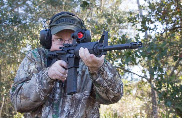 Man Shooting AR-15   Aero Precision AC-15   You may use ...