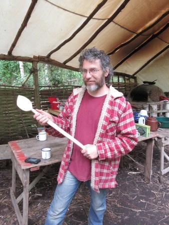 Big wooden soup spoon