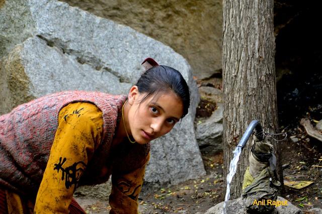 Lady from Red Aryans Darichik village, Batalik, Kargil