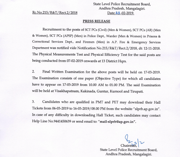 AP Police - Notification