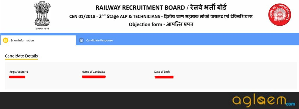 RRB ALP Answer Key Candidate Details