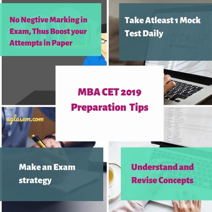 MBA CET 201 preparation Tips