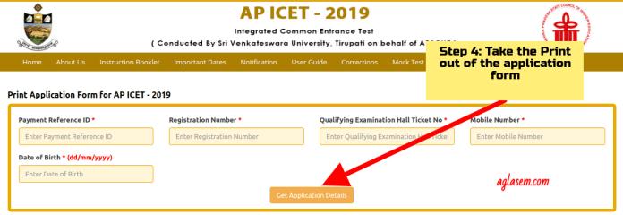 AP ICET 2019 Print application form