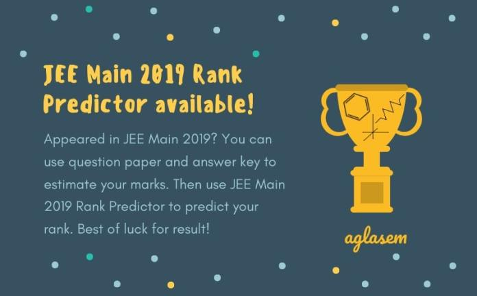 JEE Main 2019 Question Paper