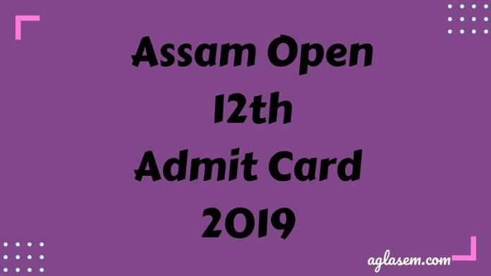 ASOS HS Admit Card April 2019