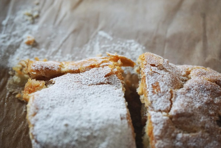 Apple strudel made with a quick gluten free puff pastry alternative.