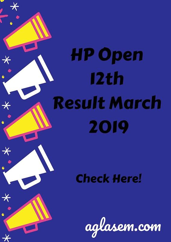 HP SOS 12th Result March 2019