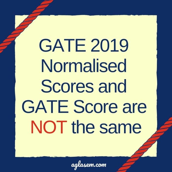 GATE 2019 Normalisation