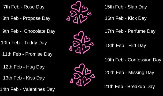 valentine day 2019 list