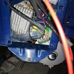 Particolare del regolatore batteria Vespa