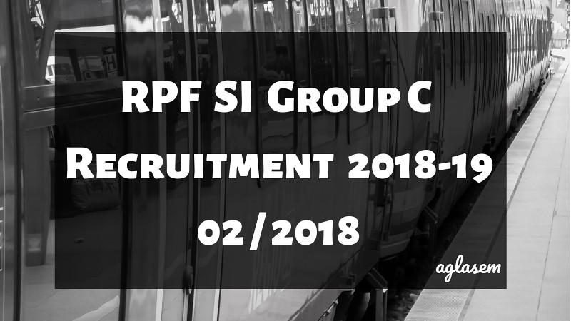 RPF SI Group C Result 2018-19