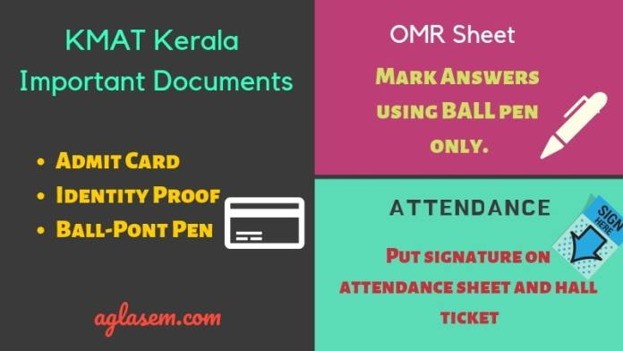 Important Instructions for the KMAT Kerala Exam Day