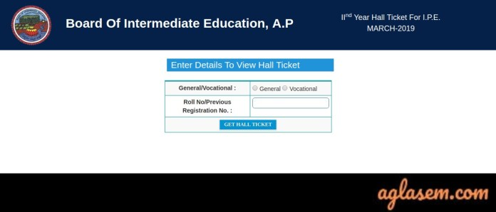 AP Intermediate 1st Year and 2nd Year Hall Ticket 2019 Released