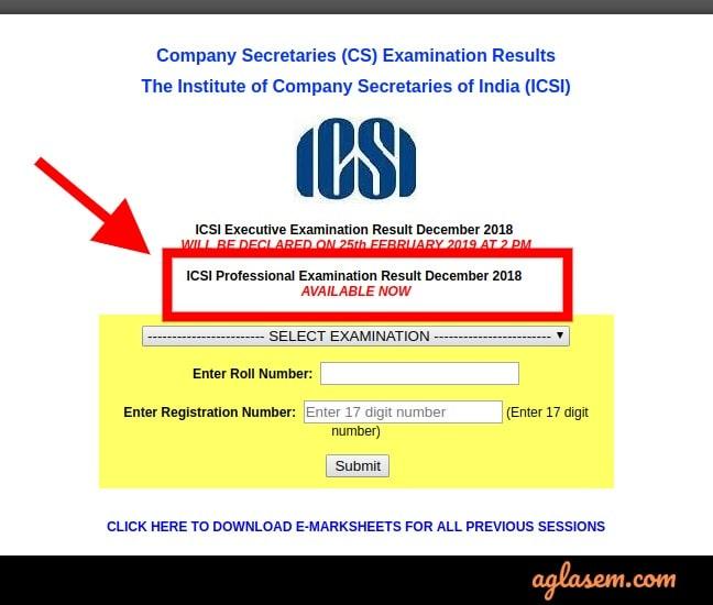 CS Professional Dec Result 2018 Available