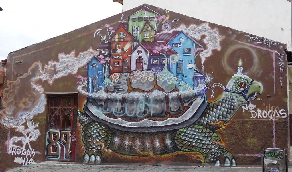 Graffitis en la calle Cuenca Ecuador 02