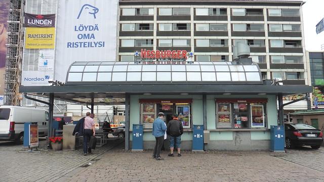 Dónde comer y gastronomía en Turku (Finlandia) - Hamburguesería Hesburger.