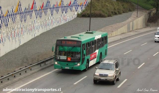 Transantiago En Tránsito | Buses Vule | Caio Mondego H - Mercedes Benz O500U / BJFX57