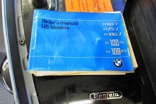 User Manual Stored in Plastic Bottom Seat Pocket