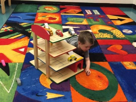 playing at preschool