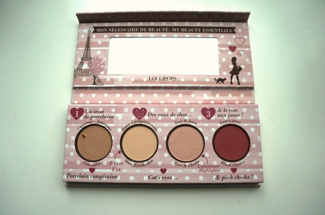 Beauty essentials palette, inside