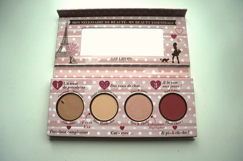 Beauty essentials palette, inside