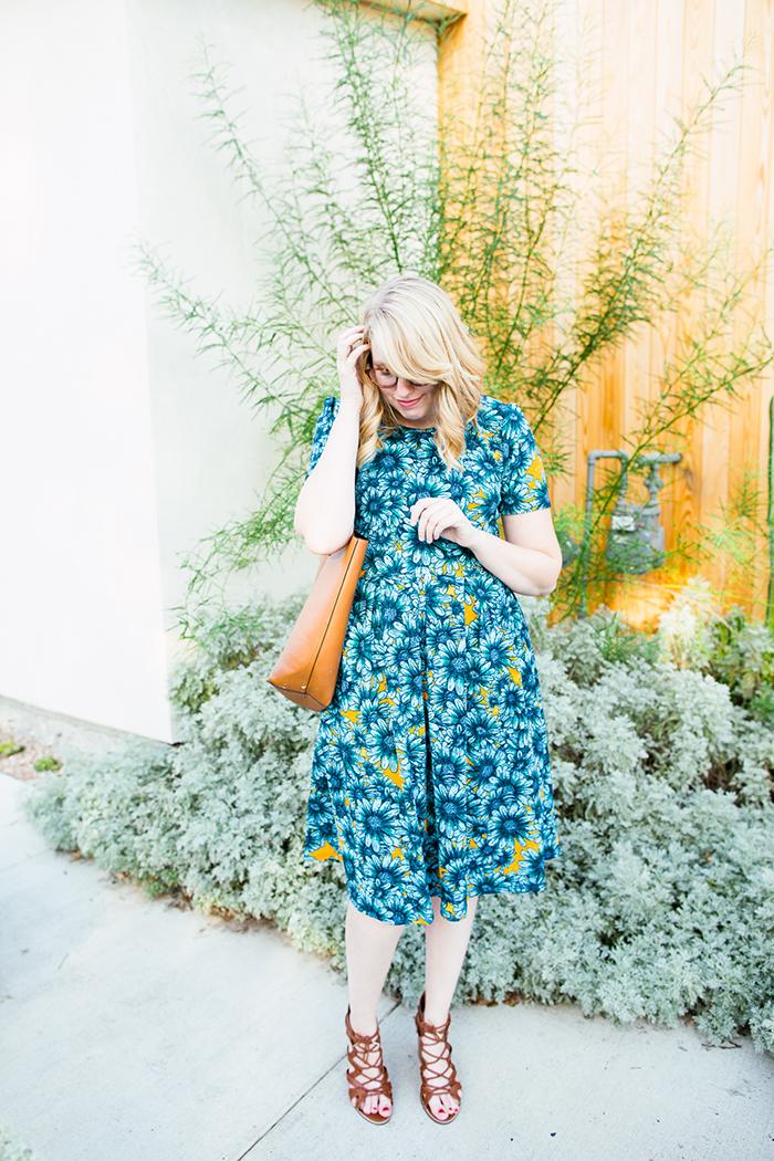 lularoe amelia daisy print dress7