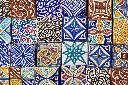 ♥ 每一筆畫的都是手工!摩洛哥陶磚彩繪指甲 4