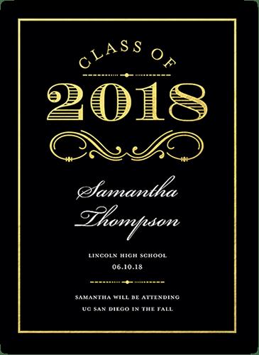 Regal Achievement 5x7 Graduation Announcements Cards
