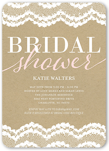 Bridal Shower Invitations Shutterfly
