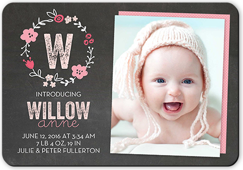 Crafty Collage Girl Birth Announcement Cards Shutterfly