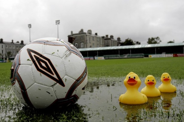 Torrential rain has played havoc with Saturday's League of Ireland ...