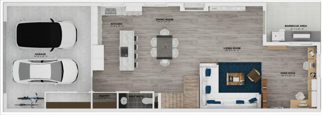 Enclave unit A Floor plan 1st story