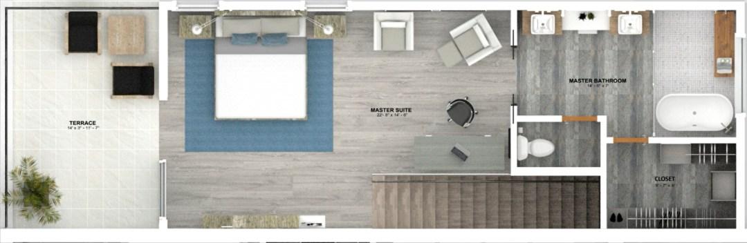 Enclave unit A Floor plan 3rd story