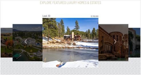 Fine Homes site screenshot
