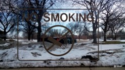 No Smoking di halte bus.