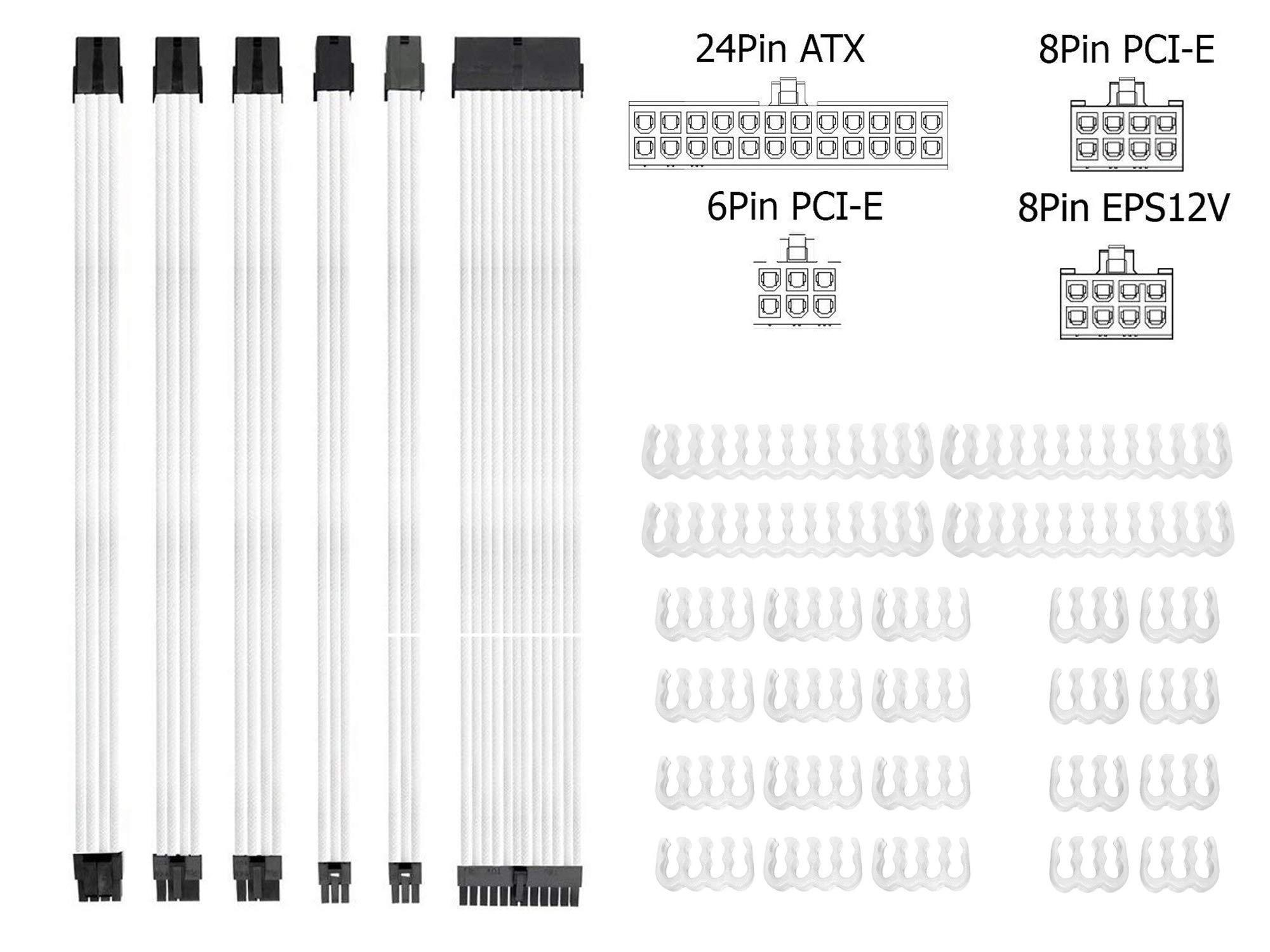 Braided Atx Sleeved Cable Extension Kit For Power Supply