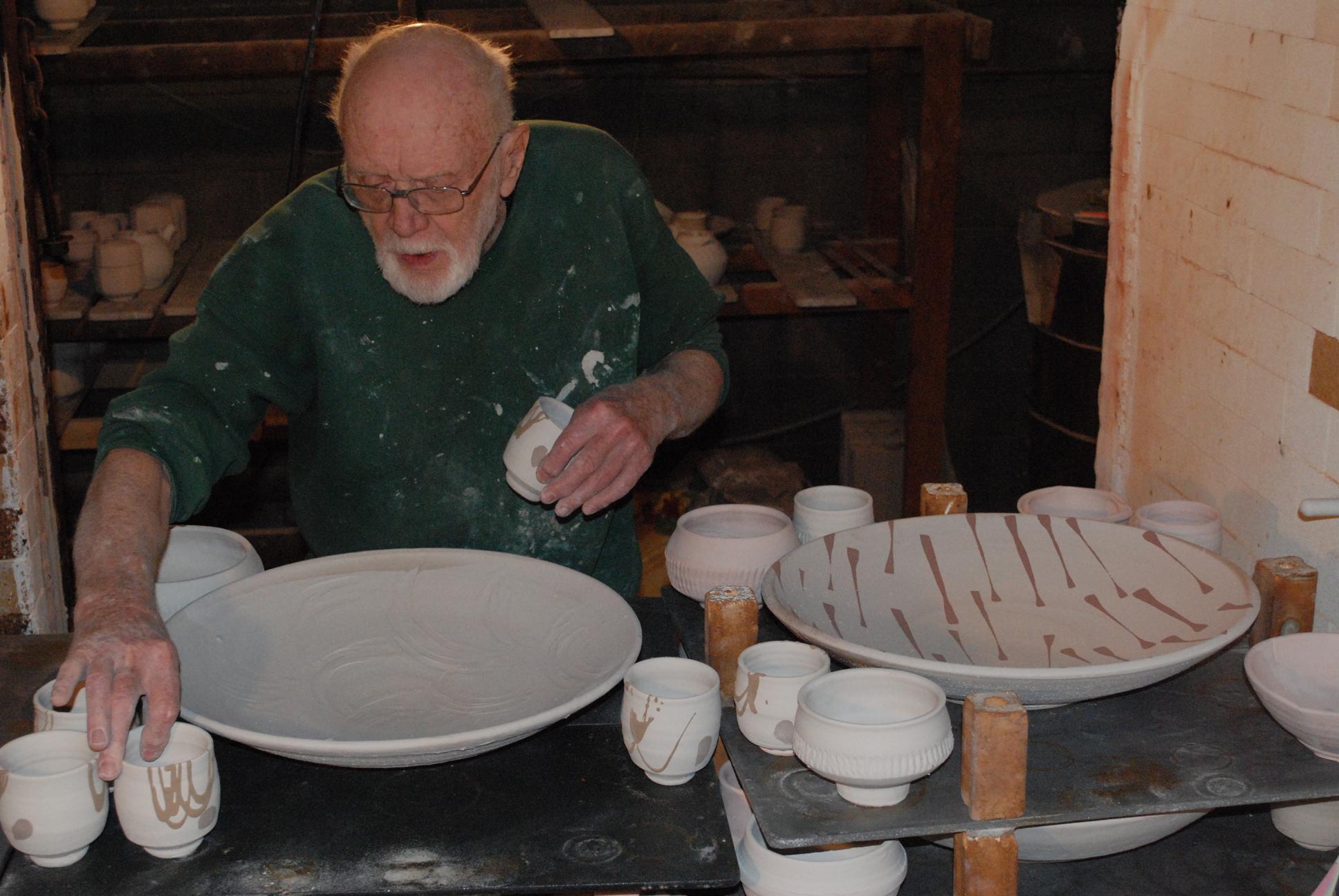 Warren MacKenzie loading kiln