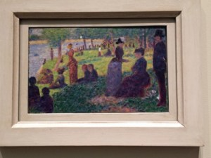 Oil sketch by Georges Seurat