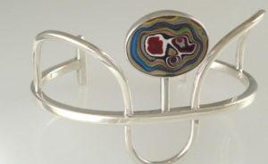Fordite bracelet by Julie Sanford